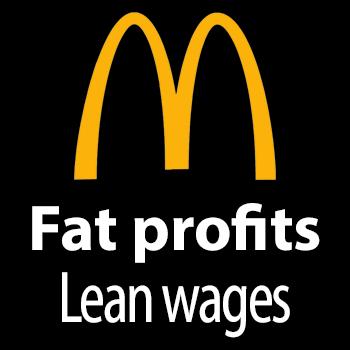 McD's: Fat profits, Lean wages