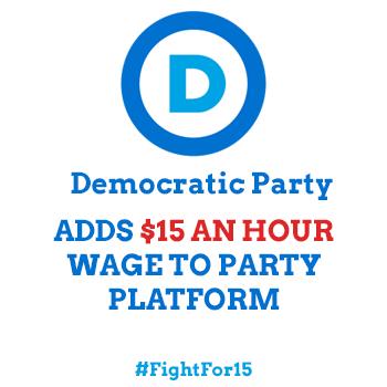democratic party minimum wage