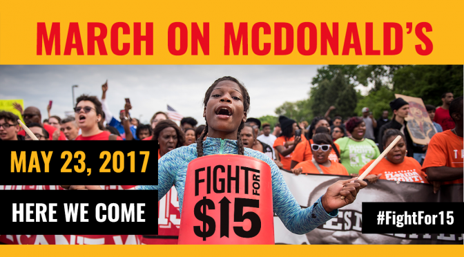 March on Mcdonalds may 23