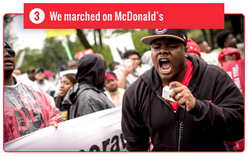 We marched on McDonald's