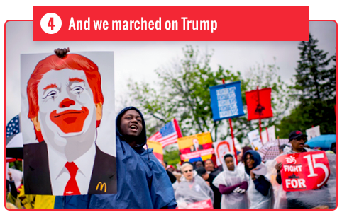 And we marched on Trump