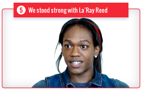 We stood with La'Ray Reed