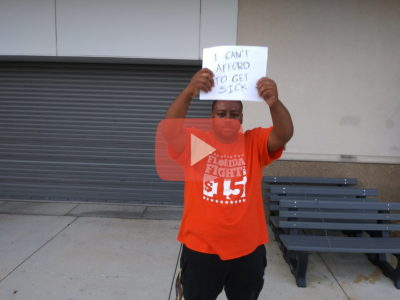 "Alex is ON STRIKE in Tampa. ""It's not right how we're being treated."""