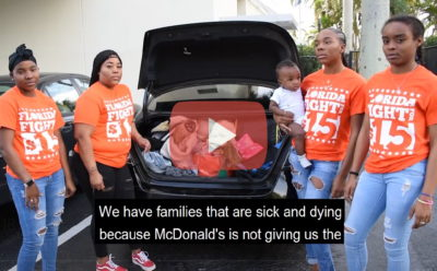 Fight for $15 workers at McDonald's in Florida are on strike but because of the #CoronaPandemic we couldn't come together to rally.   But we're still sharing our story. We're sick of suffering, not being able to pay rent, risking illness…it's past time for change and Unions for All