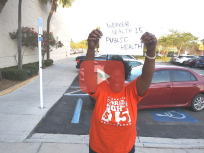 Gail Rogers is on STRIKE from McDonald's in Tampa. it's impossible to survive on $8.46 an hour; Florida needs $15!