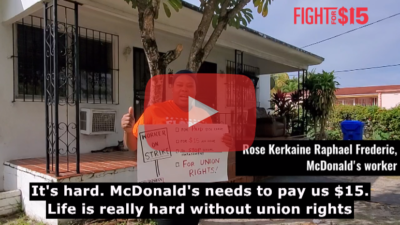 Rose Kerkaine Raphael Frederic works at a corporate McDonald's and is ON STRIKE in Miami. She experiences discrimination, violence, and sexual harassment on the job because of the way she looks and talks.