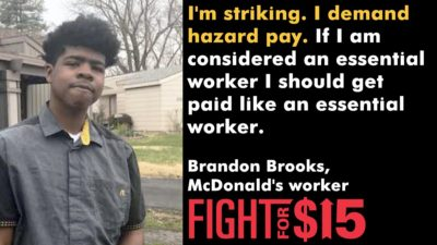 Brandon is going on STRIKE because we can't do essential work without essential pay!