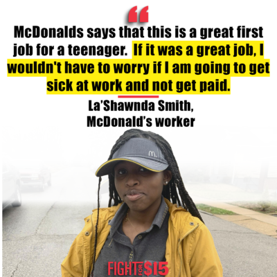 Listen to La'Shawnda! Worker health is public health! We need to protect all workers by giving them adequate healthcare, paid sick leave, and protection from infection during the ongoing coronavirus pandemic