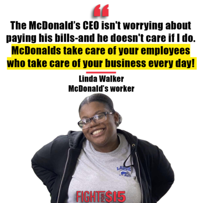 McDonald's should have its workers' back. We're calling on the company to compensate EVERY WORKER for lost hours and keep them safe during the coronavirus pandemic