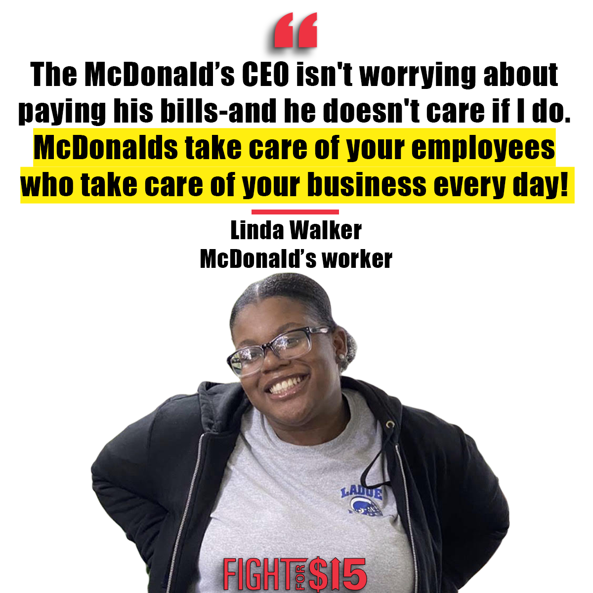 McDonald's take care of your employees who take care of your business every day