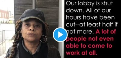 """""""We can't afford to stay at home. I know I can't. I got to get out here and make this money""""  Like Ms. Bettie, we're working because we have to. What about you?"""