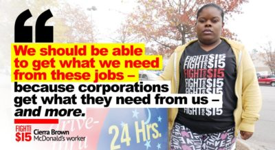 McDonald's exploits workers. We're organizing to demand change.