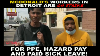 We're putting our lives on the line – we should not be treated as disposable.  We need reliable #PPE, hazard pay, and #PaidSickLeave for every  McDonald's  worker.
