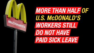 From the start, McDonald's COVID-19 response has been profit over people. The company lobbied President Trump to make sure the majority of its workers were carved out of paid sick leave from the first CARES Act. Workers are striking today demanding McDonald's protect all workers.