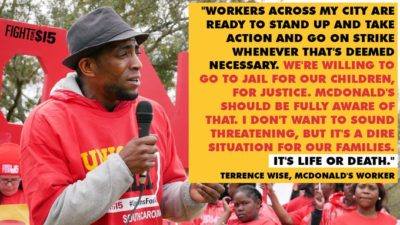 The situation is dire for McDonald's workers across America. We're prepared to do whatever it takes.