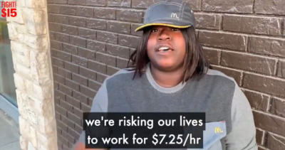BREAKING: Memphis  @McDonalds  workers, Katerra Wilkins and Alexis Chambers, walk off the job today on strike!