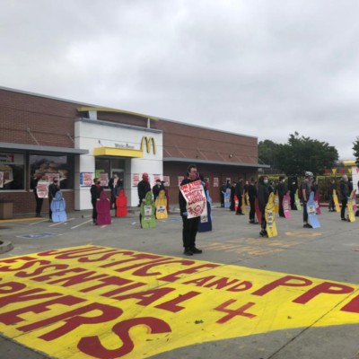 Oakland McDonald's workers continue strike through day 10, increase amount of workers striking from 22 to 33.