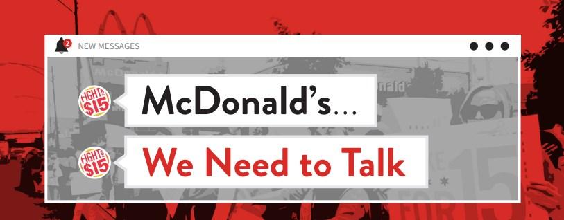 McDonald's, We Need to Talk