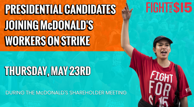 McDonald's workers are going on strike May 23