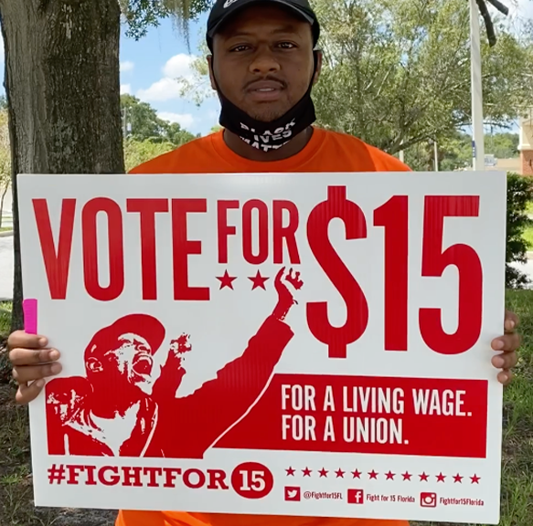 Alex voted for $15/hr and will be getting a raise next year.