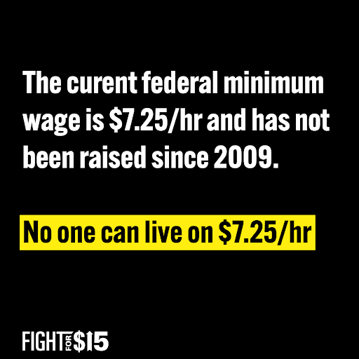 No one can live on $7.25/hr.